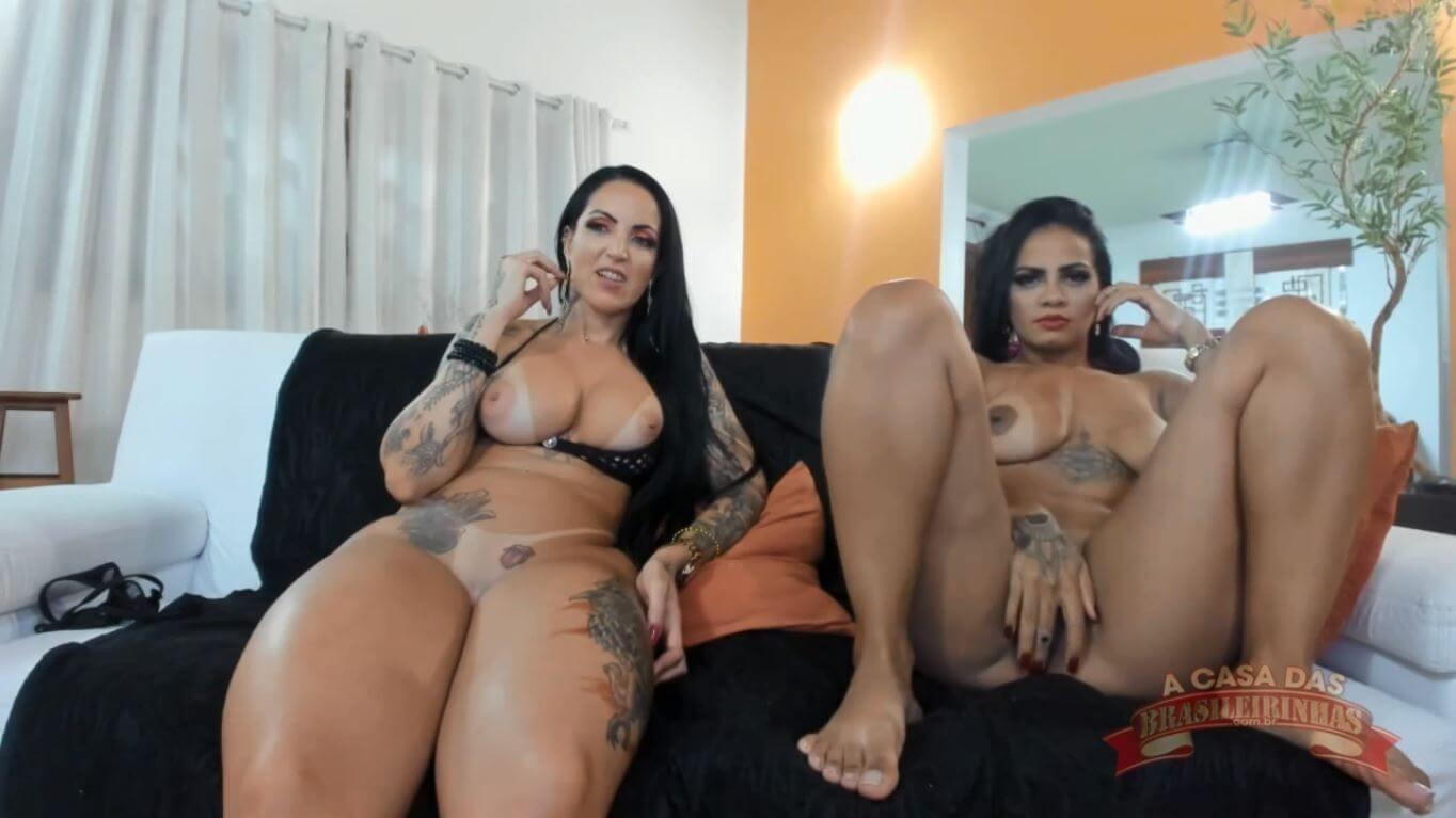 Elisa Sanches e Grazy Moreno no chat de sexo