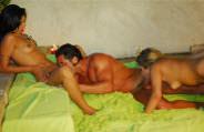 Threesome with Fabiane Thompson, Natalia Lemos and Mark Oliver