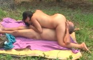 Morena hot fucks with outdoor old man!