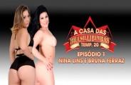 Nina Lins e Bruna Ferraz juntinhas na Casa das Brasileirinhas