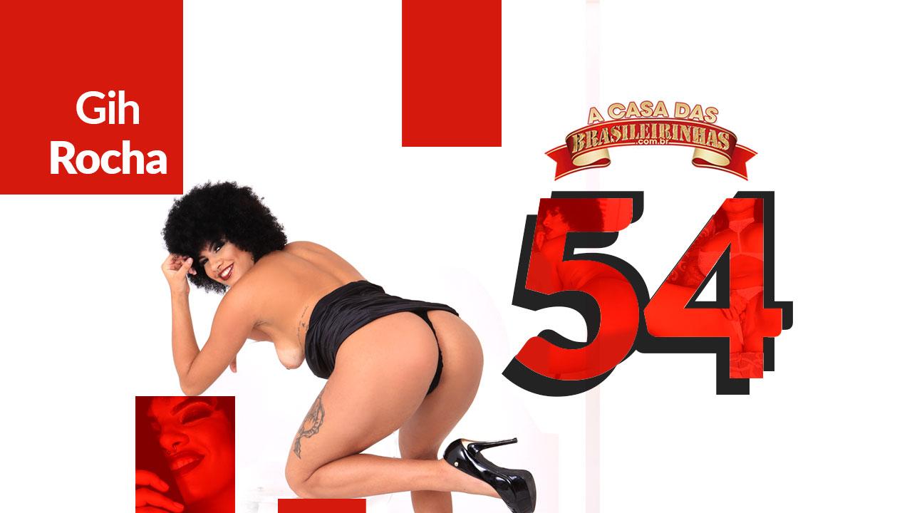 Gih Rocha porn actress getting ready at Casa das Brasileirinhas