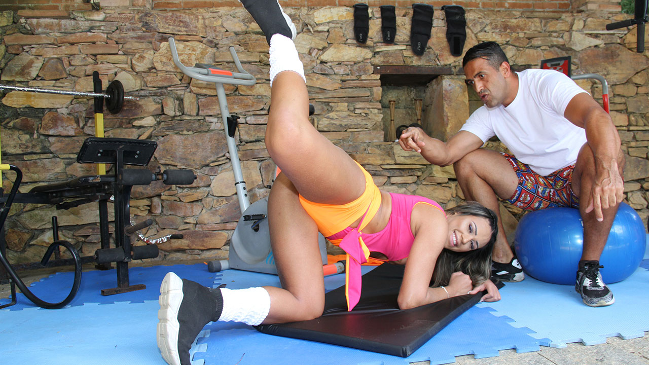 Marsha love took a lot of cock in the ass at the time of training