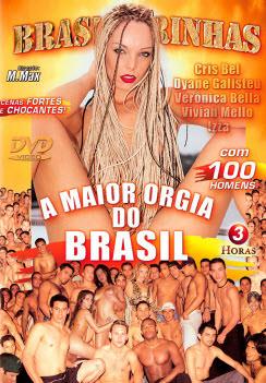 Filme pornô A Maior Orgia Do Brasil Capa da frente
