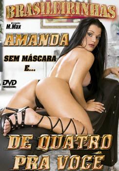 Filme pornô Amanda de Quatro pra Você Capa da frente