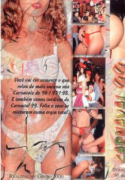 Filme pornô 3 anos de Sacanagem - Carnaval de 1999 capa de Trás