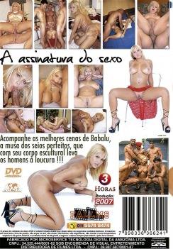 Filme pornô Assinatura do Sexo - Babalu capa de Trás