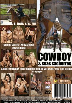 Filme pornô Cowboy E Suas Cachorras capa de Trás