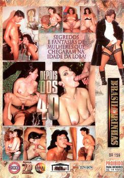Filme pornô Depois dos 40 capa de Trás