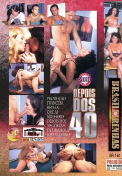 Filme pornô Depois dos 40 Vol. 4 capa de Trás