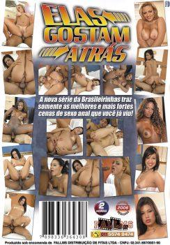 Filme pornô Elas Gostam Atrás capa de Trás