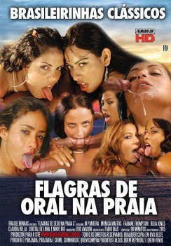 Filme pornô Flagras de Oral na Praia capa de Trás