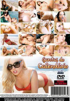 Filme pornô Garotas do Calendário 2012 capa de Trás