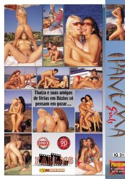 Filme pornô Ipanema Girls Thaiza capa de Trás