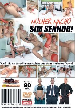 Filme pornô Mulher Macho Sim Senhor capa de Trás