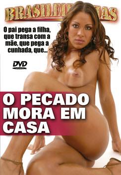 Filme pornô O Pecado Mora em Casa Capa da frente
