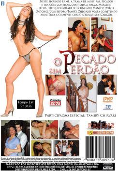 Filme pornô O Pecado Sem Perdão capa de Trás
