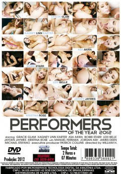 Filme pornô Performers Of The Year 2012 capa de Trás