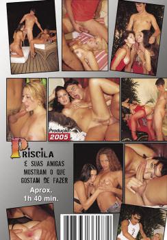 Filme pornô Priscila gosta atrás capa de Trás
