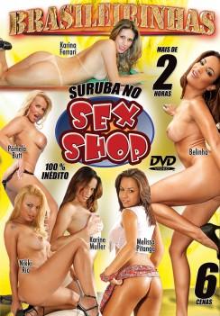 Filme pornô Suruba no Sexshop Capa da frente