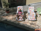anny bombom toma sol na casa das brasileirinhas