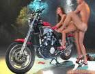 casal transando em cima da moto