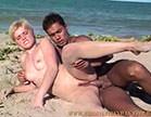 dando de ladinho para bem dotado na praia