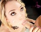lily labeau tomando gozo na boca