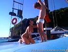 morena fazendo boquete em cima do barco