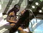 moreninha senta e rebola num sexo interracial