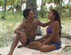 negra safada transando gostoso na praia