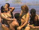 orgia no meio da praia com duas gostosas e tres marmanjos