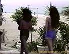 Dessa vez, elas mostraram a bunda e rebolaram no calçadão de Ipanema