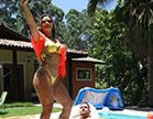 A morena gostosa Luna Oliveira ficou cheia de tesão e aguentou sexo anal hardco