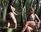 Monique Lopes e Bibi Griffo se chupando gostoso em pornô lesbico