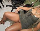 Nicole Araújo fodendo no escritório da Brasileirinhas, essa loira fez muita sa