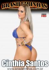 A stripper Cinthia Santos deu trabalho para o bem dotado Roge Ferro.