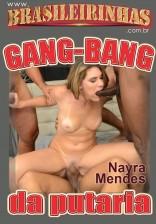 Nayra Mendes encara quatro bem dotados em Gang Bang!