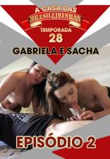 Gabi Portiolli e Sacha Carvalho capricharam na sensualidade no reality