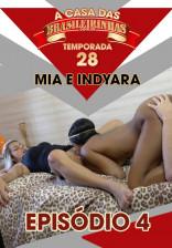 Mia Linz e Indyara Dourado ficaram uma semana na Casa