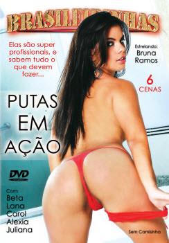Filme pornô Putas em Ação Capa da frente