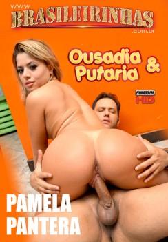 Filme pornô Ousadia e Putaria Capa da frente