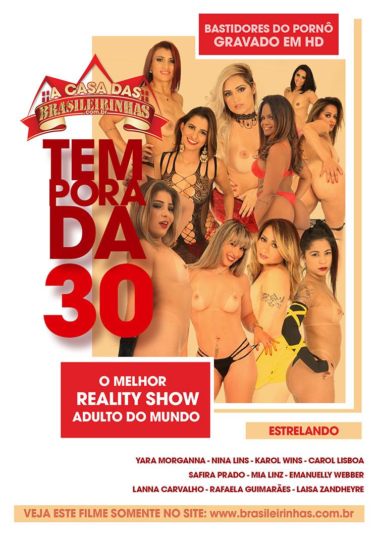Capa frente do filme A Casa das Brasileirinhas Temporada 30