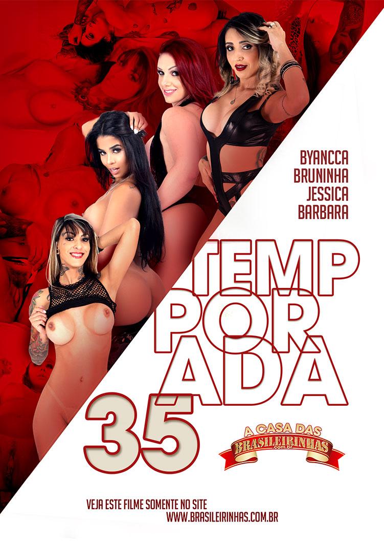 Capa frente do filme A Casa das Brasileirinhas Temporada 35