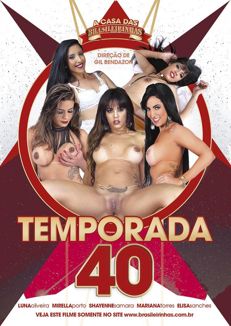 Capa frente do filme A Casa das Brasileirinhas Temporada 40