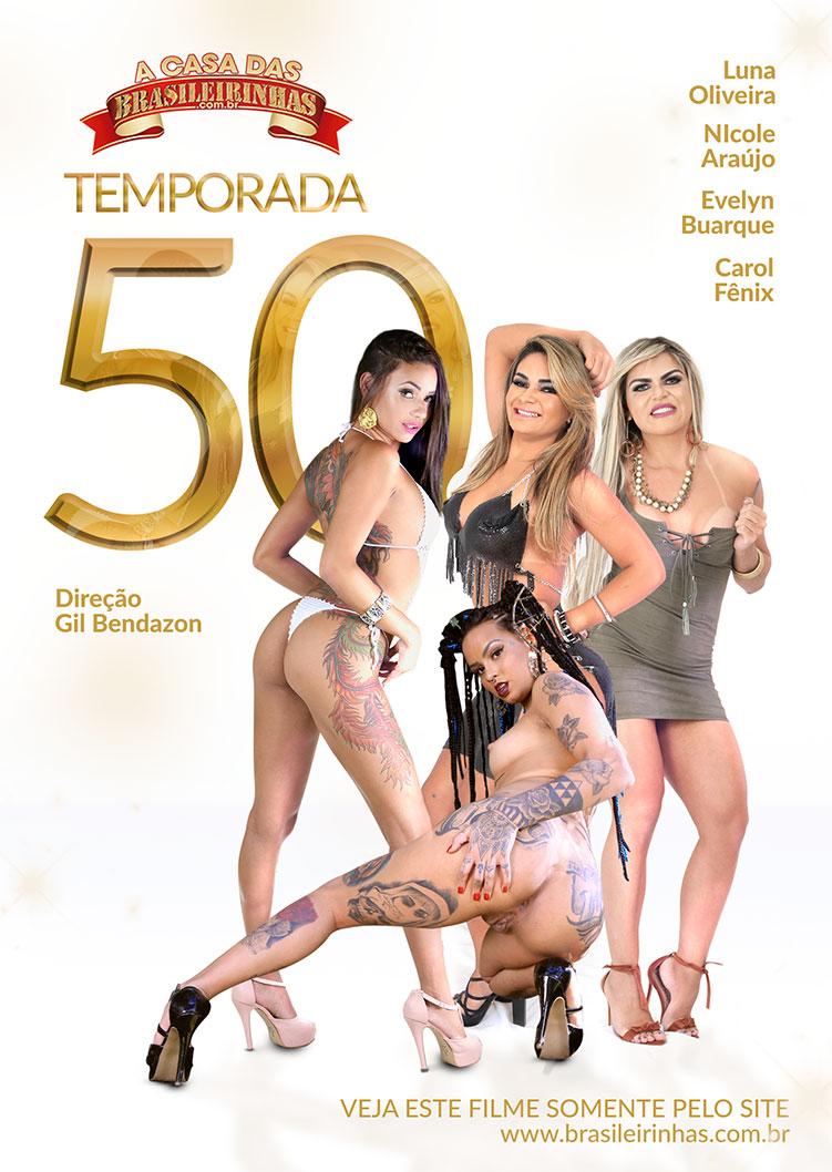 Capa frente do filme A Casa das Brasileirinhas Temporada 50