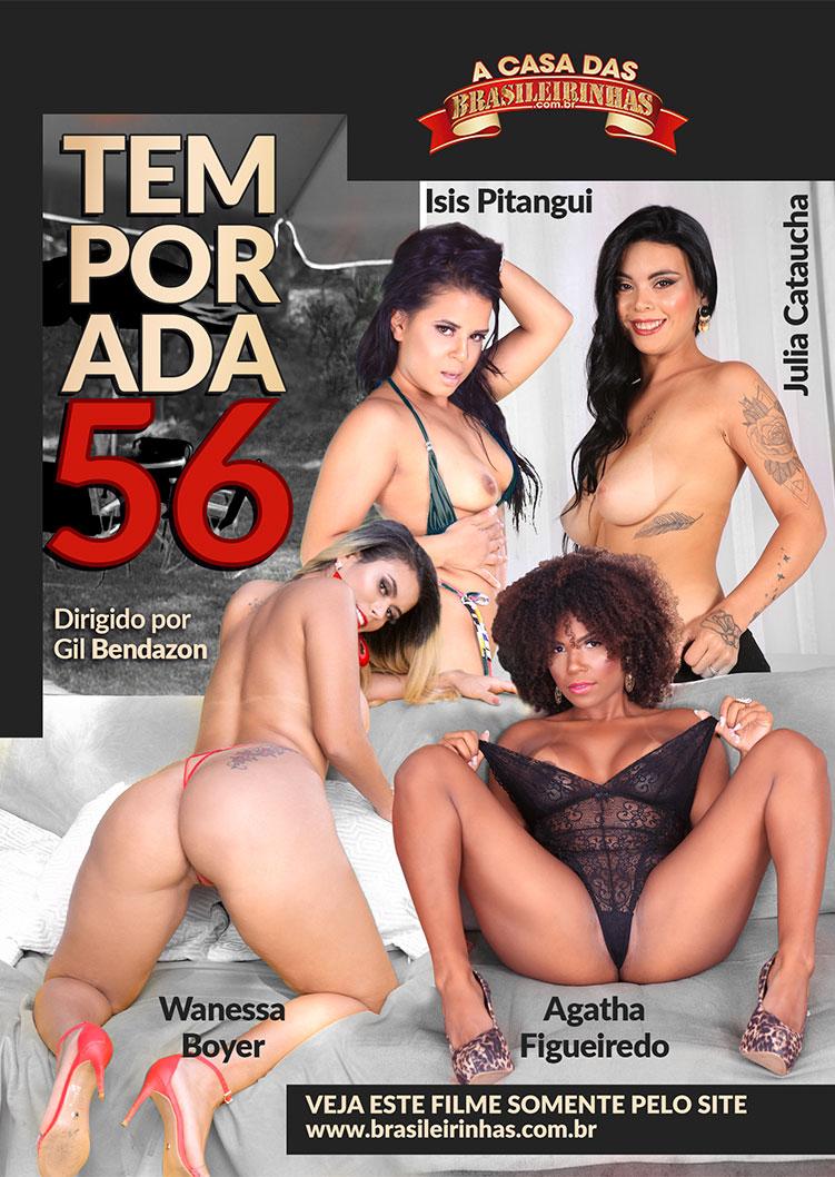 Capa frente do filme A Casa das Brasileirinhas Temporada 56