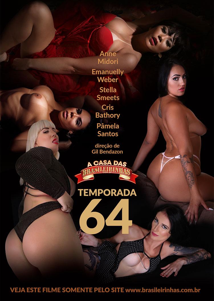 Capa frente do filme A Casa das Brasileirinhas Temporada 64