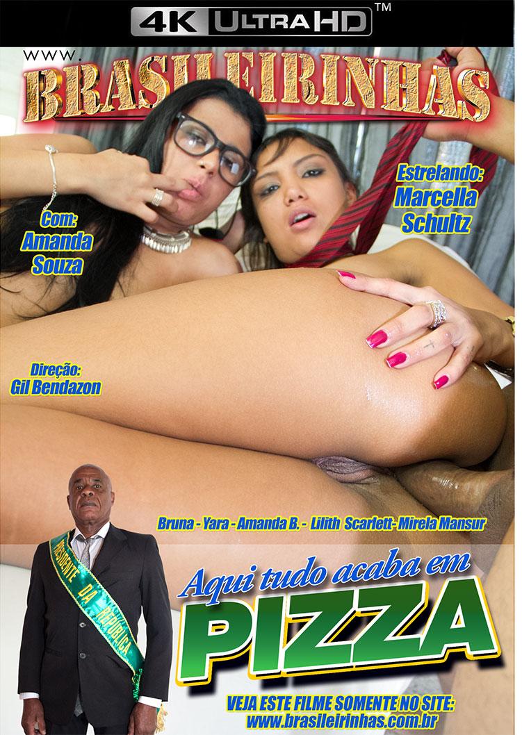 Capa frente do filme Aqui Tudo Acaba em Pizza