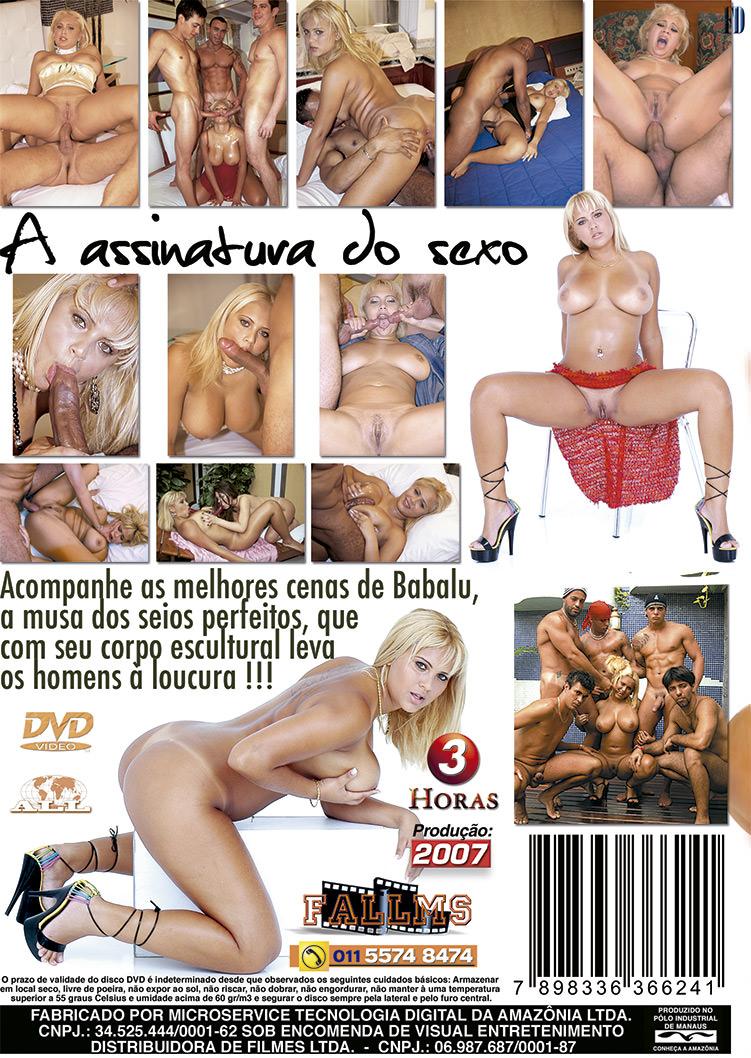 Capa tras do filme Assinatura do Sexo - Babalu