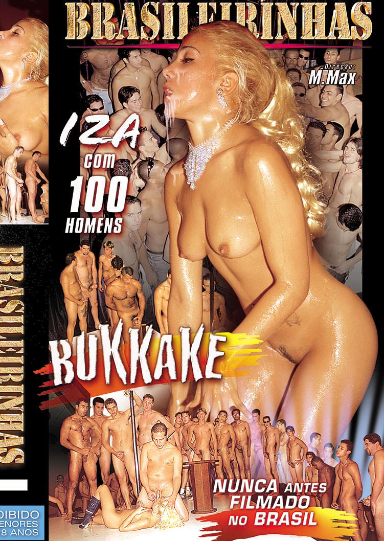 Capa frente do filme Bukkake Izza Saint